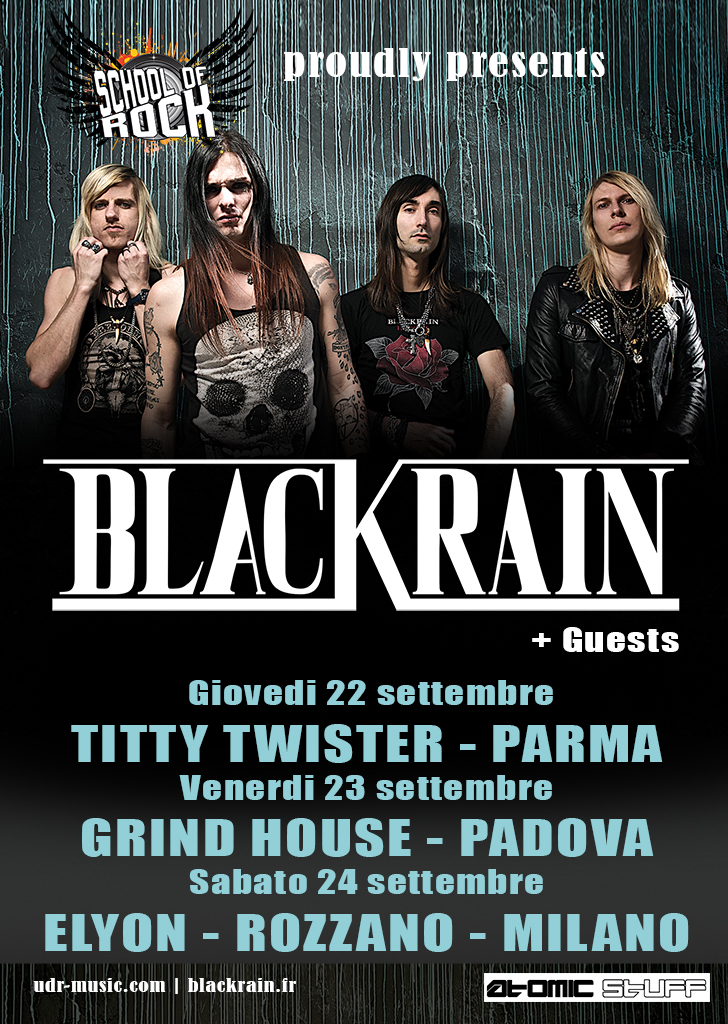 Flyer BlackRain Italy