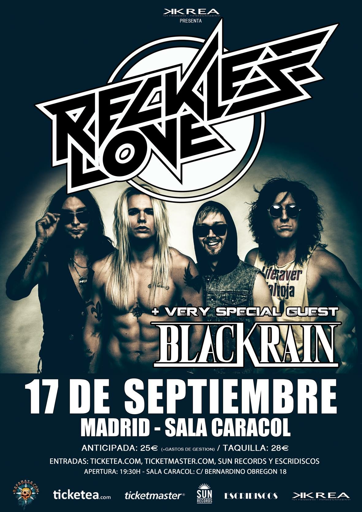 Flyer BlackRain Reckless LoveAtarrabia